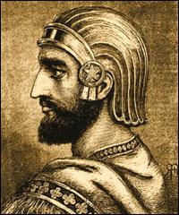 Kyros II., Begründer des Perserreiches, nach einem alten iranischen Gemälde.